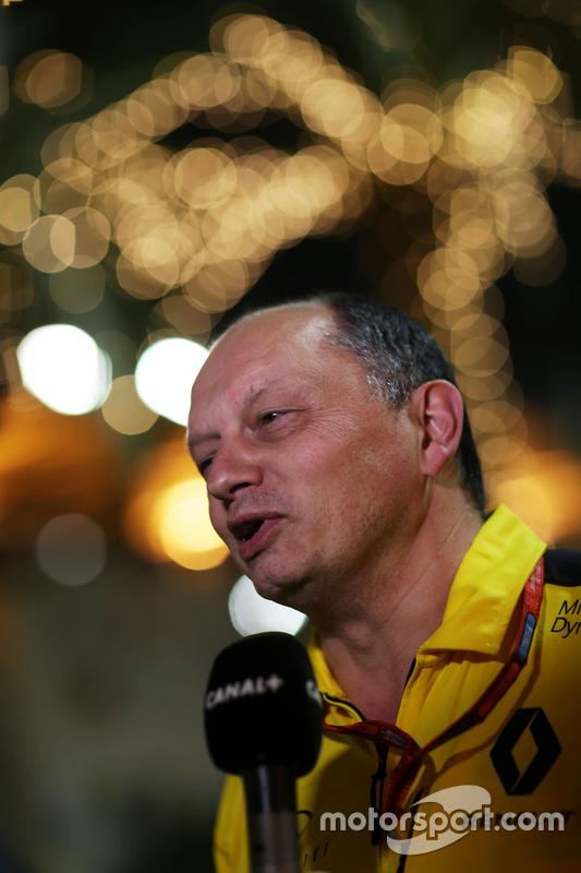 Frederic Vasseur, Renault Sport F1 teambaas met de media