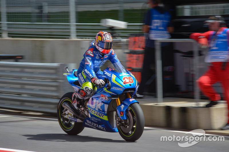 In der Boxengasse: Maverick Viñales, Team Suzuki MotoGP