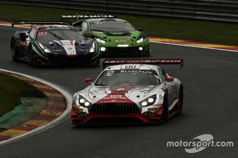 #00 AMG-Team Black Falcon, Mercedes AMG-GT3: Yelmer Buurman, Maro Engel, Bernd Schneider