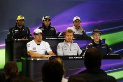 Пресс-конференция: Фелипе Наср, Sauber, Серхио Перес, Sahara Force India F1, Эстебан Гутьеррес, Haas