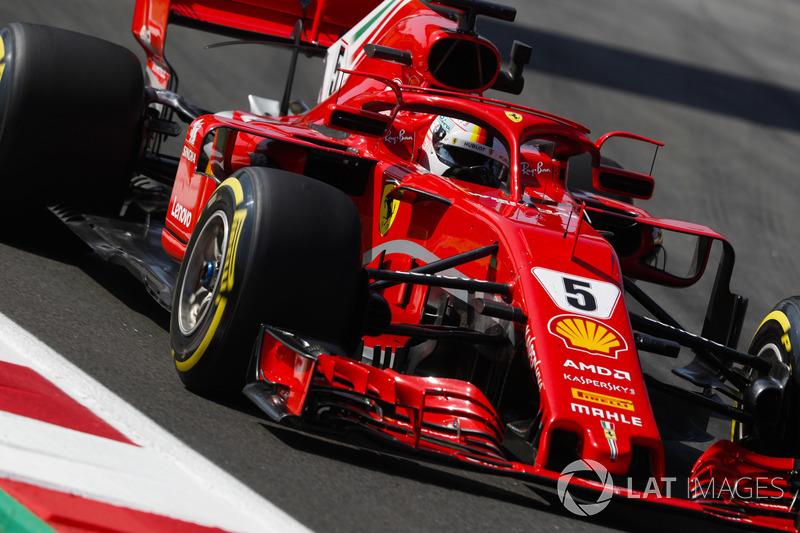 3: Sebastian Vettel, Ferrari SF71H, 1'16.305