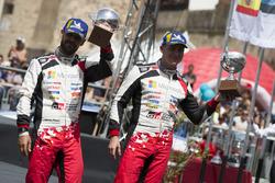 Podio: al terzo posto Esapekka Lappi, Janne Ferm, Toyota Gazoo Racing WRT Toyota Yaris WRC