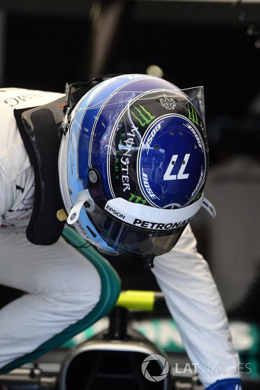 Capacete especial de Valtteri Bottas em homenagem a Mika Hakkinen
