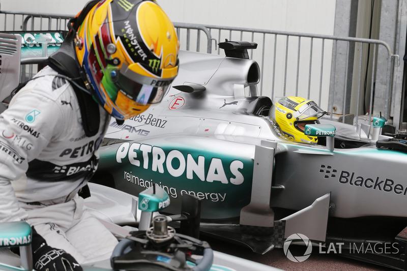 Em 2013, a Mercedes obteve sua primeira vitória no principado em sua passagem recente pela F1. Rosberg, o pole, controlou a prova sem ameaças, enquanto que Hamilton perdeu posições no box e chegou em quarto.