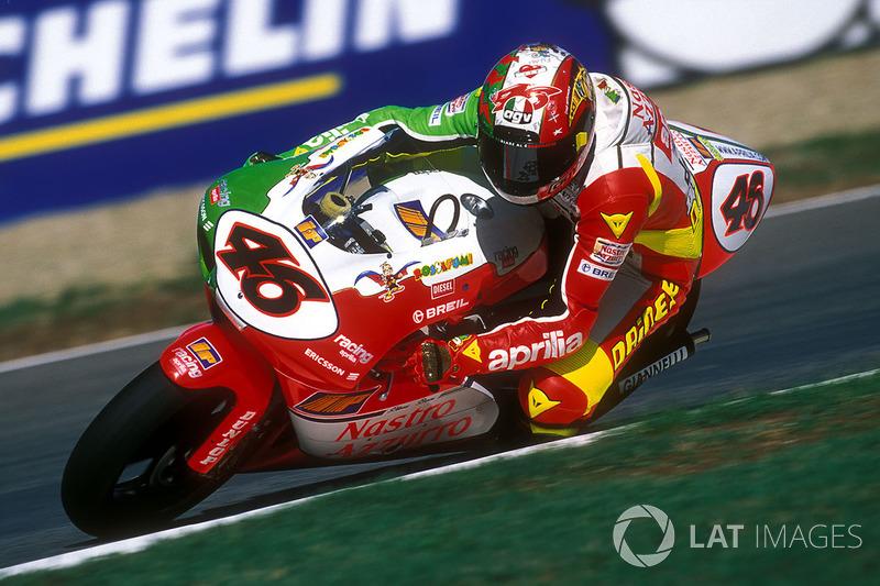 Imola 1998 - Victoria con la moto pintada con los colores de la bandera italiana