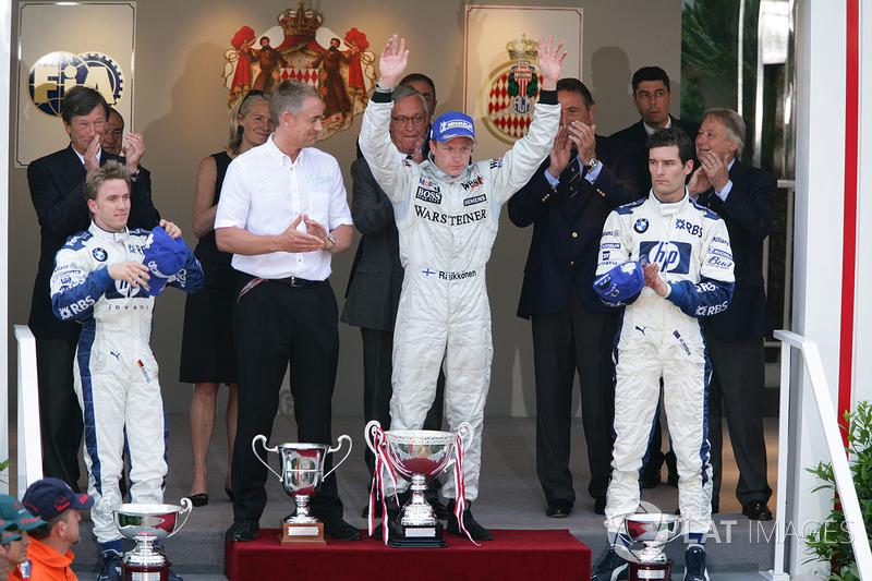 2005: 1. Кими Райкконен, 2. Ник Хайдфельд, 3. Марк Уэббер