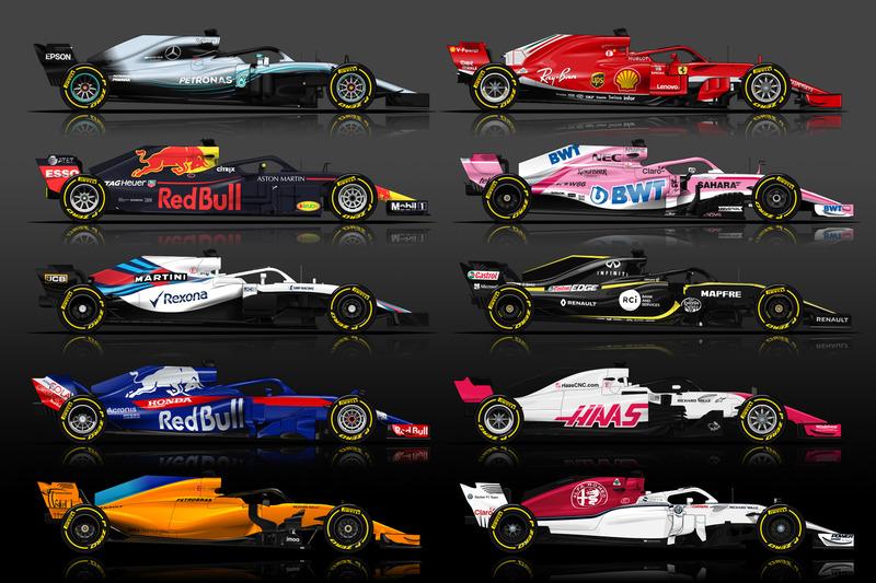 Los equipos de F1 en la temporada 2018