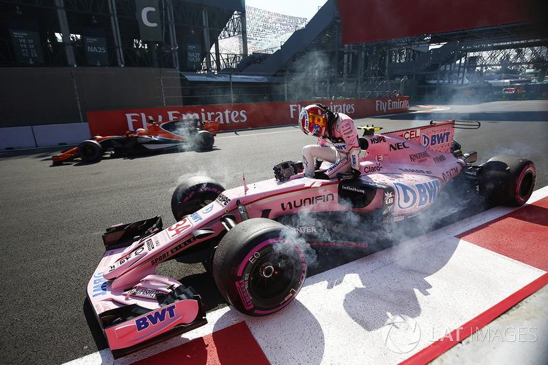 Alfonso Celis Jr., Sahara Force India F1 VJM10 después del cohoque