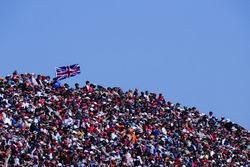 Huge crowds in the grandstands