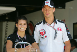 Jenson Button, Honda with Danica Patrick