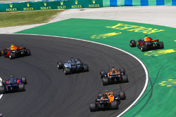 Daniel Ricciardo, Red Bull Racing RB13, goes wide after contact, Max Verstappen, Red Bull Racing RB13