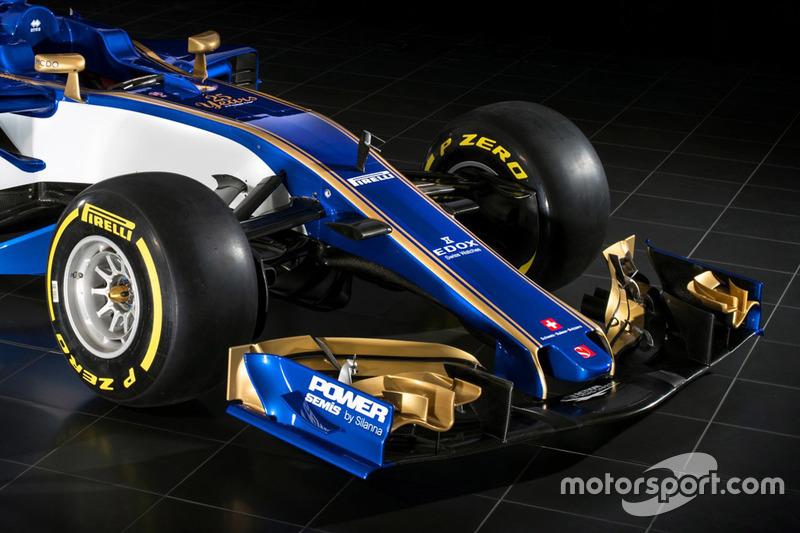 Sauber C36 detalle delantero