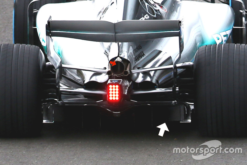 Mercedes AMG F1 W08: Diffusor