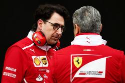 Mattia Binotto, Ferrari Chief Technical Officer with Maurizio Arrivabene,Ferrari Team Principal.