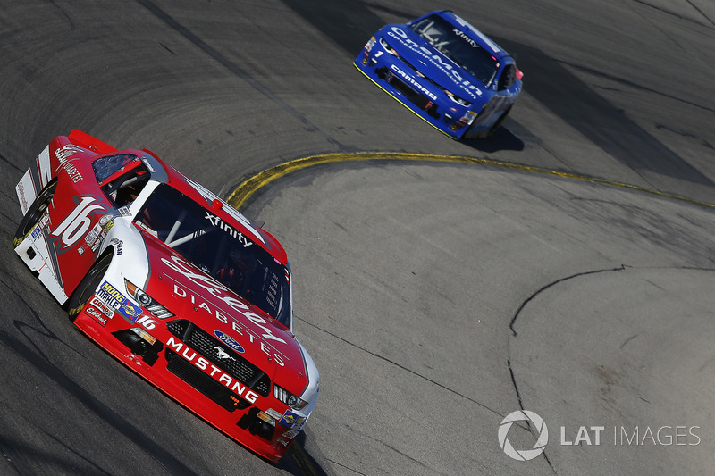 Ryan Reed, Roush Fenway Racing Ford, Elliott Sadler, JR Motorsports Chevrolet