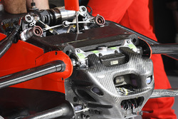 Ferrari SF70H front suspension and chassis detail