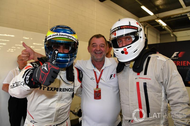 Zsolt Baumgartner, Woody Harrelson, F1-Doppelsitzer
