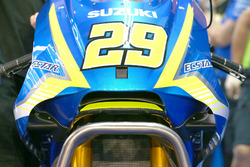 Andrea Iannone, Team Suzuki MotoGP with erodynamic wing Suzuki fairing