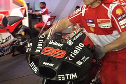 Jorge Lorenzo, Ducati, con el nuevo carenado