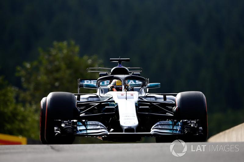 Lewis Hamilton, Mercedes AMG F1 W08, con el halo