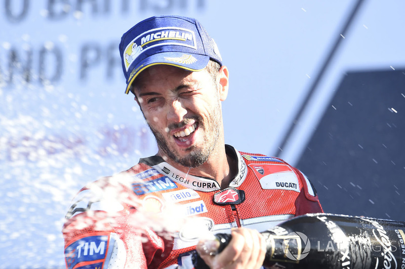 Andrea Dovizioso venceu o GP da Grã-Bretanha da MotoGP neste domingo.
