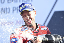 Podium: race winner Andrea Dovizioso, Ducati Team