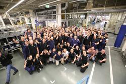 Valtteri Bottas, Mercedes AMG F1 with Mercedes-Benz employees