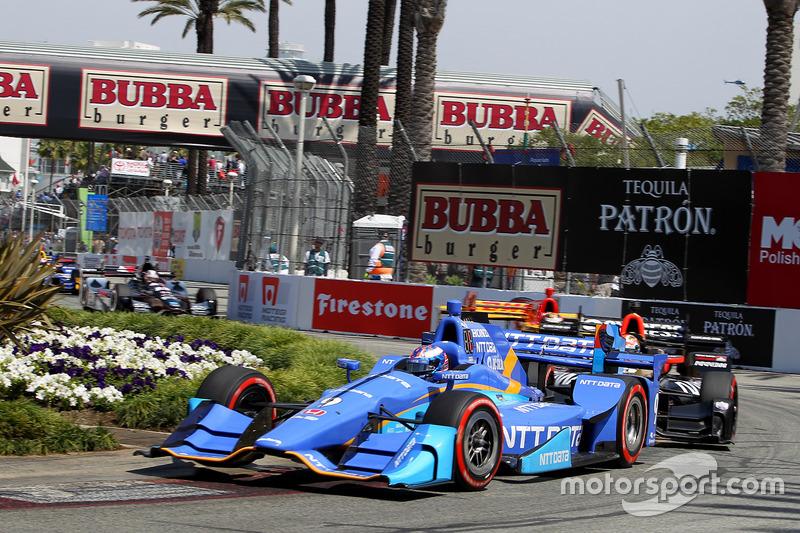 Restart: Scott Dixon, Chip Ganassi Racing, Honda, führt
