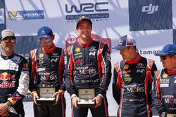 Ganadores Thierry Neuville, Nicolas Gilsoul, Hyundai i20 Coupe WRC, Hyundai Motorsport