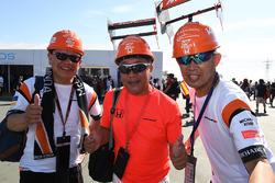 McLaren fans and hats