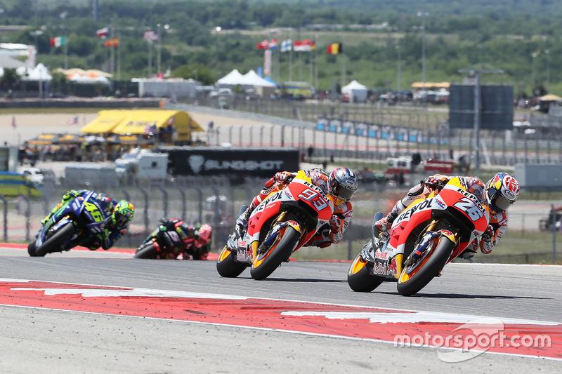 Dani Pedrosa, Repsol Honda Team, Marc Marquez, Repsol Honda Team, Valentino Rossi, Yamaha Factory Racing
