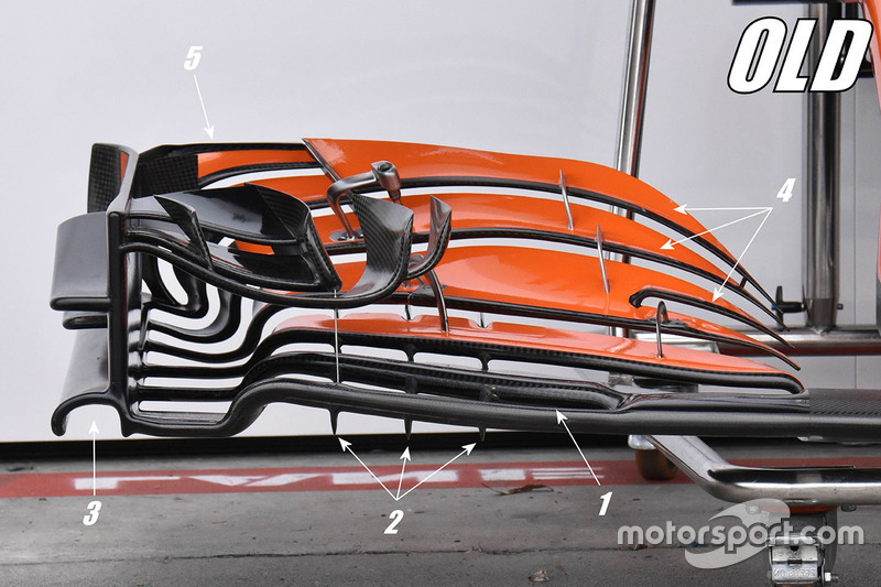McLaren MCL32 old front wing detail