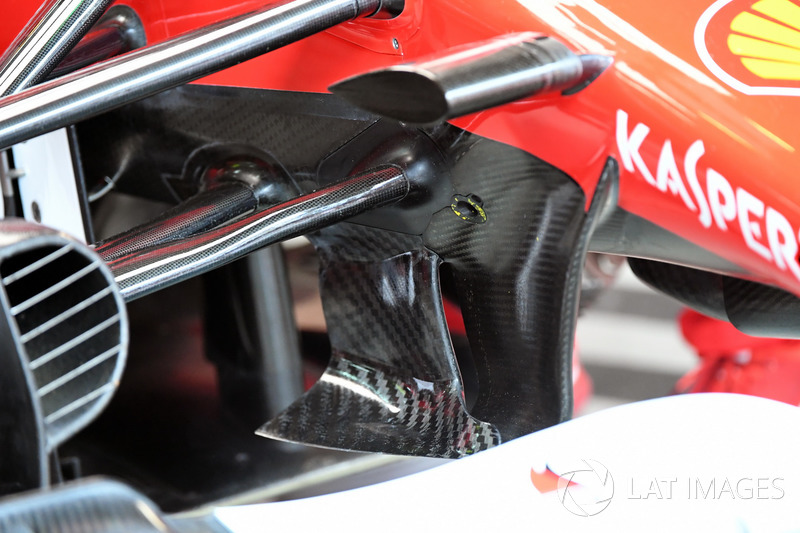 Ferrari SF70H front suspension and aero detail
