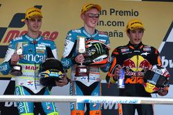 Podium: second place Sergio Gadea, Race winner Bradley Smith, third place Marc Marquez