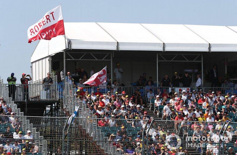 Pubblico che sostiene Robert Kubica, Williams Racing