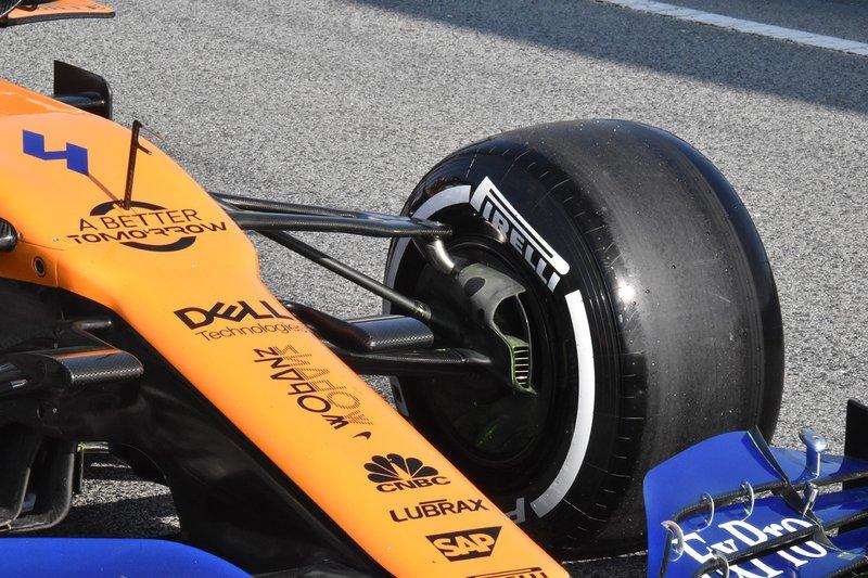 McLaren MCL34 ön süspansiyon detay