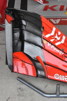 Ferrari SF71H: i flap dell'ala anteriore