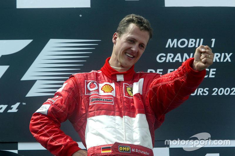7: Michael Schumacher (1994, 1995, 2000, 2001, 2002, 2003, 2004)