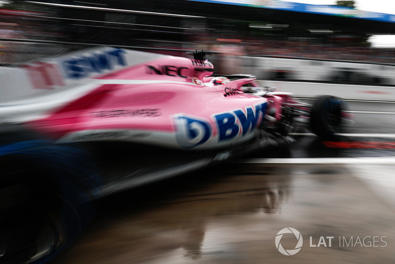 8. Sergio Perez, Racing Point Force India VJM11, leaves the garage