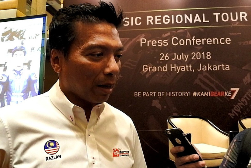 Dato' Razlan Razali, CEO Sepang International Circuit speak to media after press conference