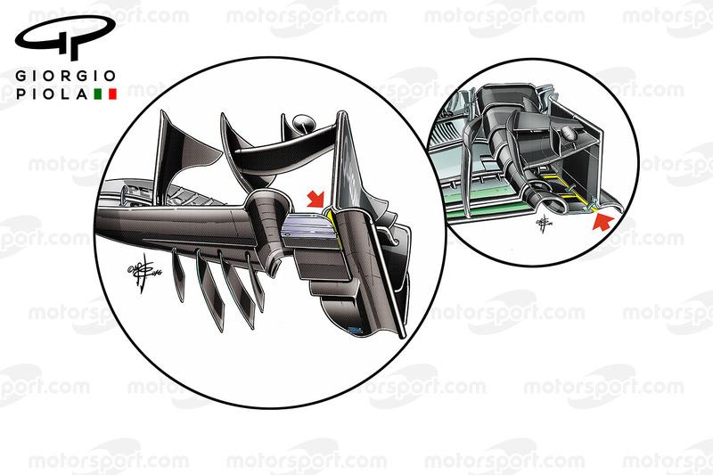McLaren MP4/31 und Mercedes W07: Frontflügel