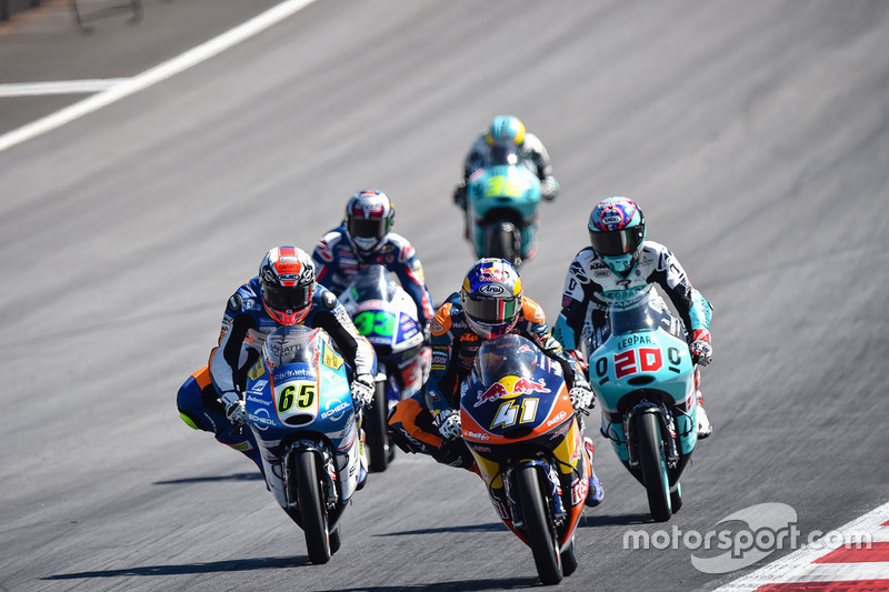 Brad Binder, Red Bull KTM Ajo and Philipp Oettl, Schedl GP Racing