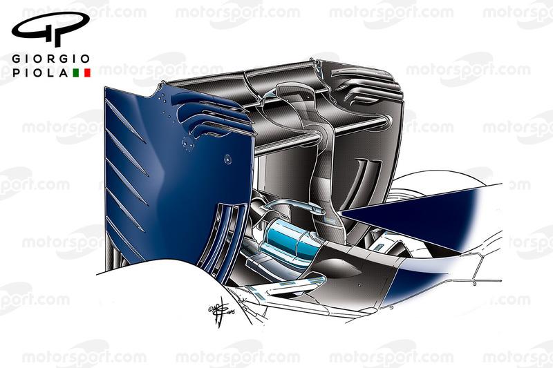 Toro Rosso STR11, Heckflügel beim Barcelona-Test