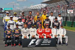 The drivers start of season group photograph