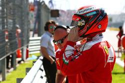 Kimi Raikkonen, Ferrari op de grid
