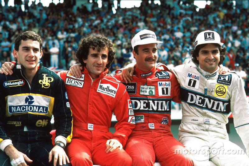 Perebutan gelar juara dunia 1986, Ayrton Senna, Lotus, Alain Prost, McLaren, Nigel Mansell, Williams, Nelson PIquet, Williams