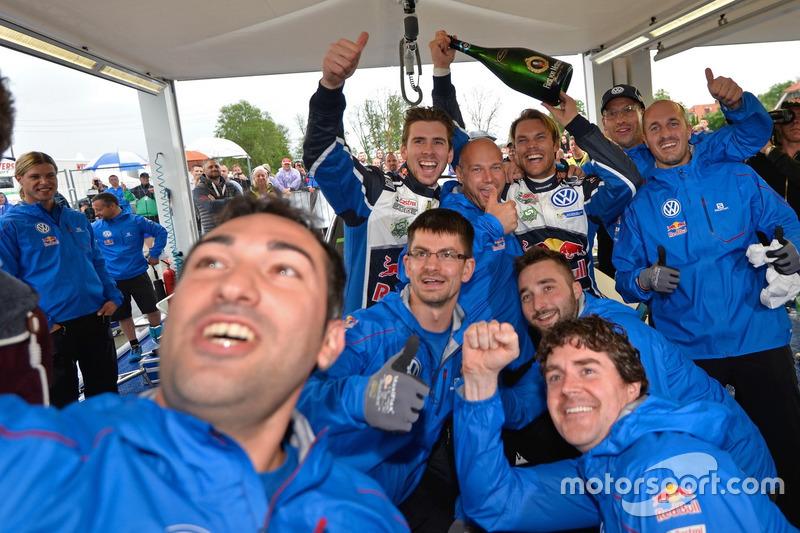 Andreas Mikkelsen, Anders Jäger, Volkswagen Polo WRC, Volkswagen Motorsport con il team