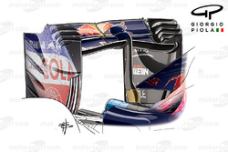 Toro Rosso STR11, curved rear wing