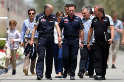 Franz Tost, Scuderia Toro Rosso equipo Director, Christian Horner, Red Bull Racing Director y Robert