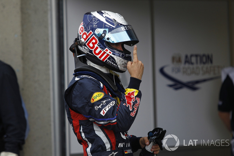 3º Sebastian Vettel  (30 victorias desde la pole) (el 56'60 % de sus victorias)